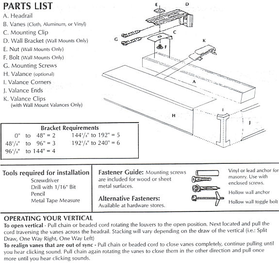 Vertical Blinds Installation Instructions Hot Blinds
