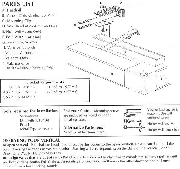 Vertical blinds installation instructions hot