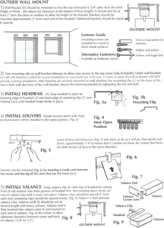 Vertical Blinds Installation Instructions Hot Blinds