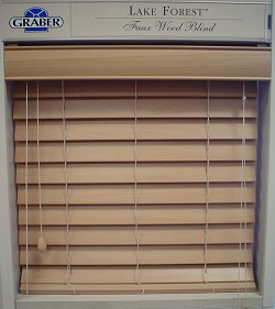 graber wood forest lake horizontal cordless fabulous custom faux blinds inch