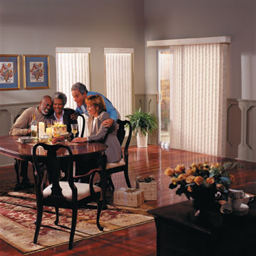 Vertical Blind By Graber With G 71 Super Vue Headrail And