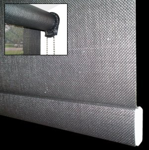 Primo Custom Rollease Roller Shade With Phifer 10 Open