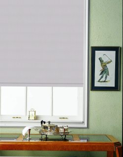 (**) Cost Cutter II Quick Ship Custom Spring Roller Shade with Reminiscent No Light Black Out Fiberglass Fabric