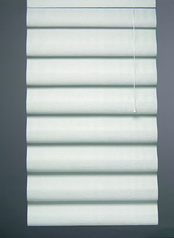 Comfortex Serenade Roman Shade Classic Tear Drop Style with Bora Bora  Light Filtering Fabric