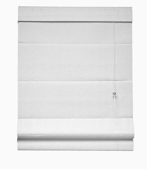Graber Fresco Classic Flat Roman Shades with Sonora Light Filtering Fabric (Contemporary Design Style)