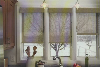 Graber Light Weaves Cordless Shade With Tranquility Style