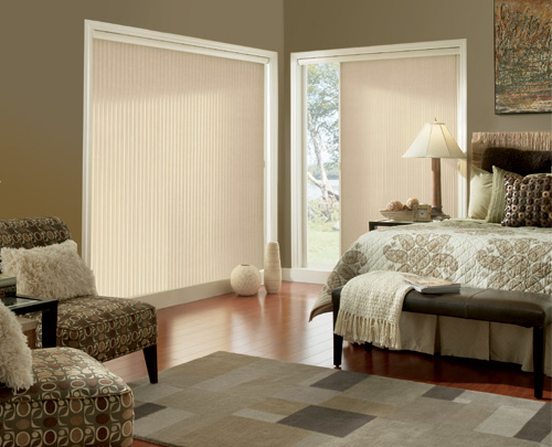 "Graber Crystal Pleat Slide Vue Cellular Shade with Elegant Neutrals 3/8 "" Single Cell Light Filtering Fabric"