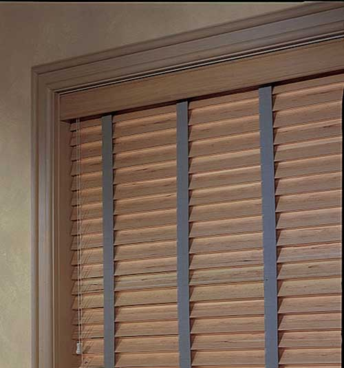 "Hotblinds Premier Woodwinds Reed 2"" Flat Slat Blind - Wood Tones"