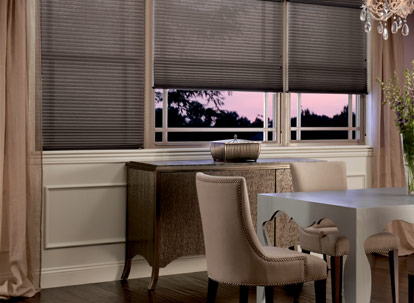 "Graber Crystal Pleat Cellular Shade with Elegant Neutrals 3/8 "" Single Cell Light Filtering Fabric"