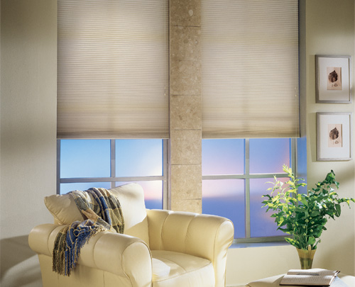 Graber Crystal Pleat Cellular Shade With Elegant Neutrals