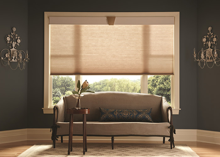 "Graber Crystal Pleat Cellular Shade with Scroll  3/4"" Single Cell Light Filtering Fabric"