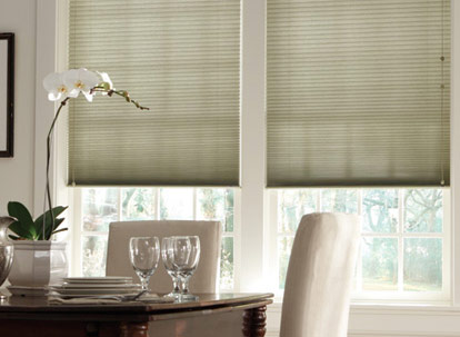 "Graber Crystal Pleat Cellular Shade with DayDream 3/8"" Double Cell Light Filtering Fabric"