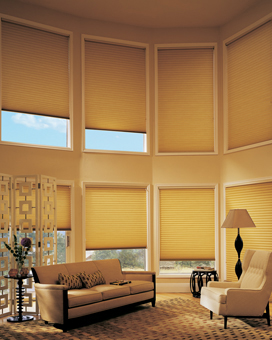 "Graber Crystal Pleat Cellular Shade with Nuance 3/8 "" Double Cell Light Filtering Fabric"