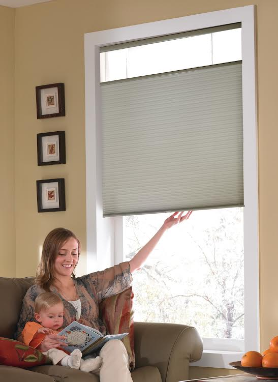 "Basics II Cordless Top Down Bottom Up Cellular Shade with 1/2"" Single cell Light Filtering Honeycomb Fabric"