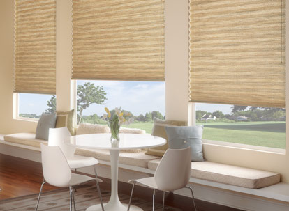 Graber EvenPleat Pleated Shades-Desert Fabric