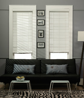 fauxwood, faux, wood, cordless, blinds, horizontal