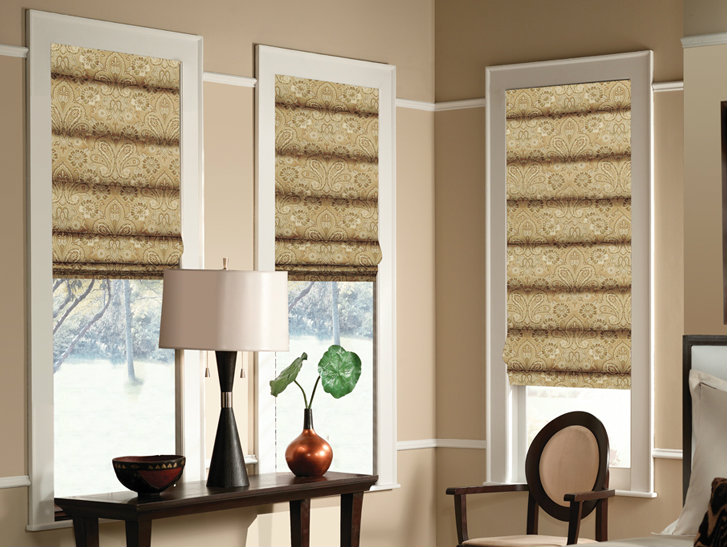 Designer II Hobbled Style Roman Shades - Group A Fabrics